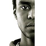 Portrait, Man, Dark skinned