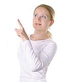 Frau, 30-45 Jahre, Fingerzeig