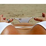 Holding, View, Bikini, Panties