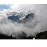Mountain range, Fog, Allgau