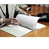 Businessman, Office & Workplace, Desk, Document