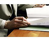 Geschäftsmann, Büro & Office, Akte