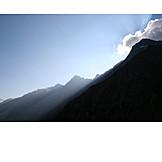 Sunlight, Mountain, Majestic