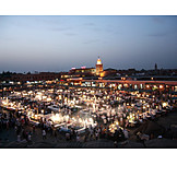 Place, Morocco, Marrakesh, Djemaa el fna