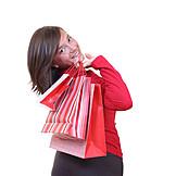 Junge Frau, Genuss & Konsum, Einkauf & Shopping, Tüte