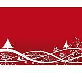 Christmas, Christmas tree, Snowscape