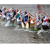 Erfolg & Leistung, Teamarbeit, Ruderboot