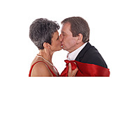 45-60 Years, Senior, Senior, Couple, Kissing