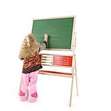 3-8 Years, Girl, Blackboard