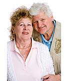 über 60 Jahre, Senior, Ehepaar, Silberne Hochzeit