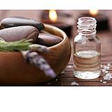 Wellness & Relax, Lavendel, Aromaöl, Massagestein