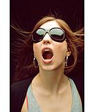 Young woman, Woman, Wild, Shouting
