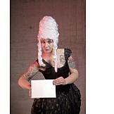 Young woman, Woman, Cladding, Masked ball