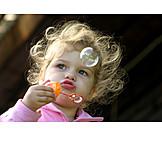 Toddler, Portrait, Bubble wand