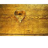 Wood, Heart, Baking