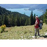Active seniors, Hiking