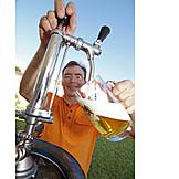 Bier, Zapfen, Gartenparty