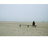 Solitude & loneliness, Woman, Beach