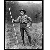 Portrait, Uniform, Boy scout, Historical photo
