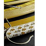 Hook, Hanger, Floral pattern, Textile