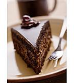 Cake piece, Chocolate cake, Chocolate cake