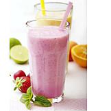 Beverage, Milk Shake, Strawberry Shake