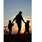 Kind, Eltern, Pflege & Fürsorge, Spaziergang