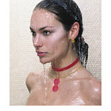 Young woman, Wet