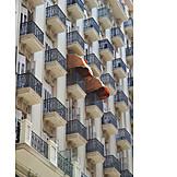 Facade, Skyscraper, Balcony, Canopy