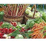 Vegetable, Market stall