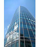 Office building, Skyscraper, Glass facade