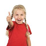 Girl, Enthusiastic, Thumbs Up