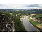 Rock, Elbe valley, Elbe sandstone mountains, Bastion