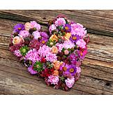 Heart, Flower arrangement, Autumn decoration