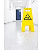 Security & Protection, Danger & Risk, Warning Sign, Slipping Hazard