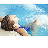 Woman, Wellness & Relax, Bathing, Hot Tub
