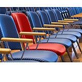 Individualität & Einzigartigkeit, Stuhlreihe, Bestuhlung