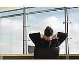 Büro & Office, Pause & Auszeit, Geschäftsmann