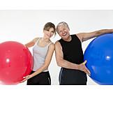 Rehabilitation, Gymnastikball, Krankengymnastik, Physiotherapie