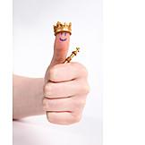 Erfolg & Leistung, König, Thumbs Up