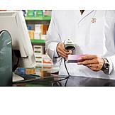 Paying, Pharmacy, Bar Code Reader, Coding