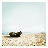 Beach, Rowboat