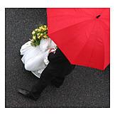 Wedding, Togetherness, Umbrella