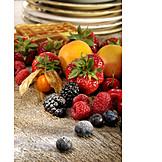 Fruit, Fruity, Waffle