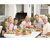Family, Barbecue, Together, Garden party, Generation