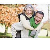 Happy, Love couple, Piggyback, Walk