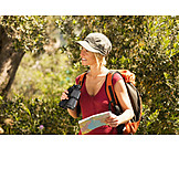 Woman, Orientation, Trekking, Hiker