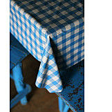 Rural scene, Tablecloth, Kitchen