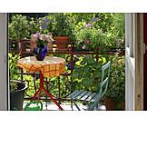 Domestic life, Summer, Balcony