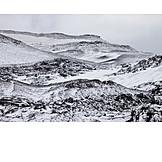 Mountain, Snowy, Sparse, Dyngjufjoll